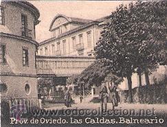 POSTAL ORIGINAL DECADA DE LOS 30. OVIEDO, LAS CALDAS, BALNEARIO. Nº 329. VER TAMAÑO Y EXPLICACION. (Postales - España - Asturias Moderna (desde 1.940))