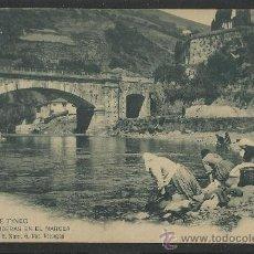 Postales: CANGAS DE TINEO - LAVANDERAS EN EL NARCEA - SERIE B -6 -FOT. VILLEGAS - (8737). Lote 30176295
