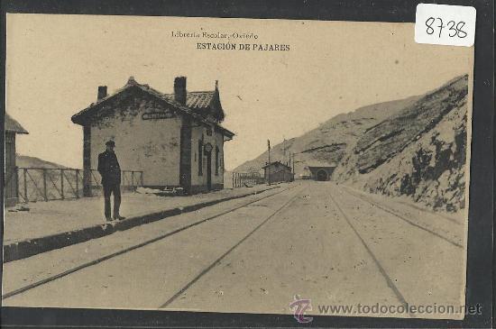 PAJARES - ESTACION - (8738) (Postales - España - Asturias Antigua (hasta 1.939))