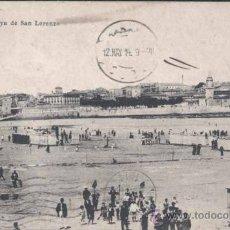 Postales: GIJÓN (ASTURIAS).- PLAYA DE SAN LORENZO. Lote 30205746