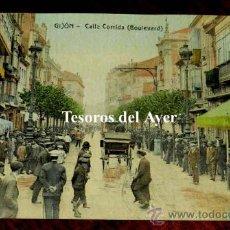 Postales: ANTIGUA POSTAL DE GIJON, ASTURIAS, CALLE CORRIDA, ED. MATOS, NO CIRCULADA.. Lote 30629654