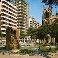 Postales: GIJÓN Nº 1007 PLAZA Y MONUMENTO ALFERECES PROVISIONALES ESCRITA CIRCULADA SELLO. Lote 30696512
