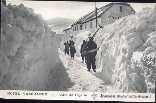 PUERTO DE PAJARES (ASTURIAS).- HOTEL VALGRANDE- ESTACIÓN DE D.C. BUSGONDO (Postales - España - Asturias Moderna (desde 1.940))
