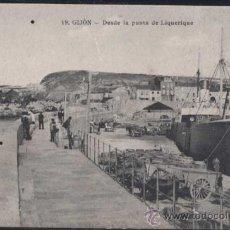 Postales: GIJÓN (ASTURIAS).- DESDE LA PUENTA DE LIQUERIQUE. Lote 30713920