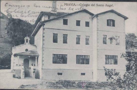 PRAVIA (ASTURIAS).- COLEGIO DEL SANTO ANGEL (Postales - España - Asturias Antigua (hasta 1.939))