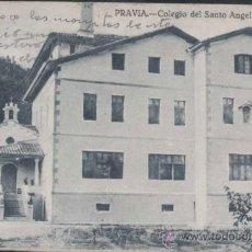 Postales: PRAVIA (ASTURIAS).- COLEGIO DEL SANTO ANGEL. Lote 31153882