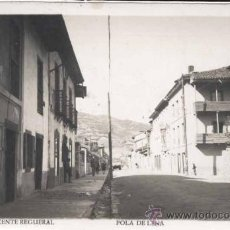 Postales: POLA DE LENA (ASTURIAS).- CALLE VICENTE REGUERAL. Lote 31165651