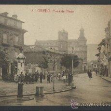 Postales: OVIEDO - 3- PLAZA DE RIEGO - THOMAS - (10036). Lote 31581973