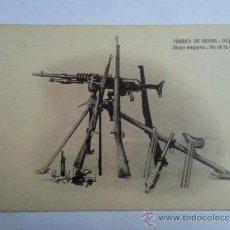 Postales: ANTIGUA FABRICA DE ARMAS - OVIEDO - GRUPO ALEGORICO - FIN DE LA OBRA. Lote 293263088