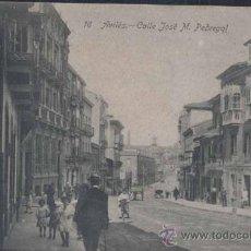 Postales: AVILÉS (ASTURIAS).-CALLE JOSE M. PEDREGAL. Lote 31719382