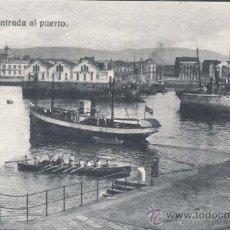 Postales: GIJÓN (ASTURIAS).- ENTRADA AL PUERTO. Lote 32066019