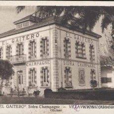 """Postales: VILLAVICIOSA (ASTURIAS).- """"EL GAITERO"""" SIDRA CHAMPAGNE- OFICINAS. Lote 32175908"""