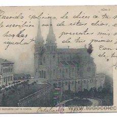 Postales: COVADONGA. LA CATEDRAL ENVUELTA POR LA NIEBLA. (FOT. LAURENT, NÚM 9.) REVERSO SIN DIVIDIR. . Lote 32343878