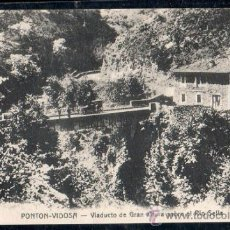 Postales: TARJETA POSTAL DE PONTON-VIDOSA - VIADUCTO DE GRAN ALTURA SOBRE EL RIO SELLA.. Lote 32368711