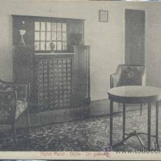 Postales: GIJON (ASTURIAS).- HOTEL MALET- UN GABINETE. Lote 32407434