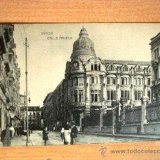 Postales: POSTAL ANTIGUA ASTURIAS OVIEDO. CALLE FRUELA.. Lote 32661688