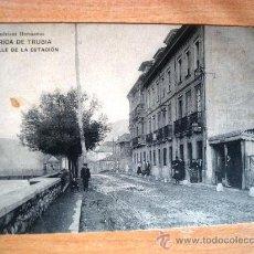 Postales: POSTAL ANTIGUA ASTURIAS FÁBRICA DE TRUBIA. CALLE DE LA ESTACIÓN. ESCRITA 15/09/1914.. Lote 32661753