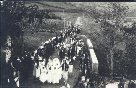 LUARCA (ASTURIAS).- FOTOGRAFÍA GOMEZ DE UNA ROMERIA (Postales - España - Asturias Moderna (desde 1.940))