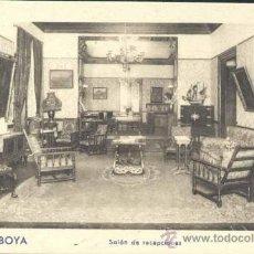 Postales: GIJÓN (ASTURIAS).- HOTEL SABOYA.- SALÓN DE RECEPCIONES. Lote 32867836