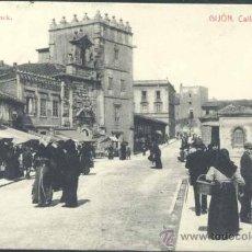 Postales: GIJÓN (ASTURIAS).- CALLE DE CABRALES. Lote 33100351