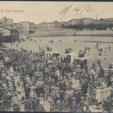 Postales: GIJÓN (ASTURIAS).- PLAYA DE SAN LORENZO. Lote 33100593