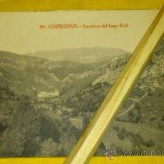 Postales: POSTAL-FOTOTIPIA NUM 94 COVADONGA, CARRETERA DEL LAGO ENOL. Lote 33220917