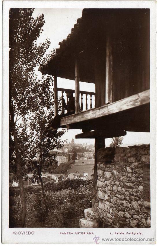 PRECIOSA POSTAL - OVIEDO (ASTURIAS) - PANERA ASTURIANA - L. ROISIN - FOTÓGRAFO (Postales - España - Asturias Moderna (desde 1.940))