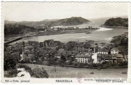 BONITA POSTAL - RIBADESELLA (ASTURIAS) - VISTA GENERAL - FOTOMELY (OVIEDO) (Postales - España - Asturias Moderna (desde 1.940))