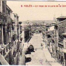 Postales: ASTURIAS. AVILES. 9. UN TROZO DE LA CALLE DE LA CAMARA.. HIJO DE LEONCIA MUÑIZ. AVILÉS. SIN CIRCULAR. Lote 33572631