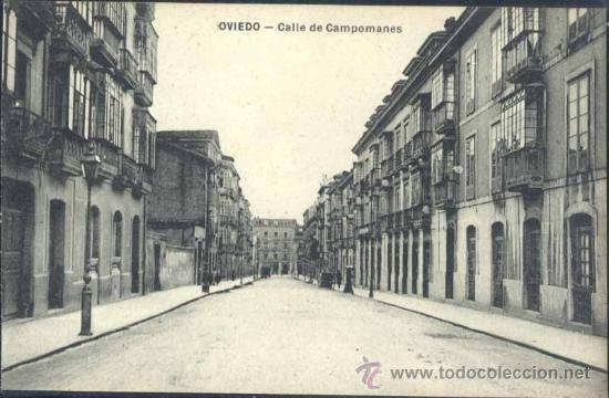OVIEDO (ASTURIAS).- CALLE DE CAMPOMANES (Postales - España - Asturias Antigua (hasta 1.939))