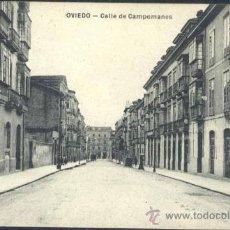 Postales: OVIEDO (ASTURIAS).- CALLE DE CAMPOMANES. Lote 33693772