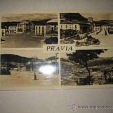 Postales: PRAVIA 4 VISTAS.PLAZA DE GUADALHORCE.PARQUE.AVD.DE CARMEN MIRANDA.VISTA GENERAL FECHADA 1954. Lote 33997319