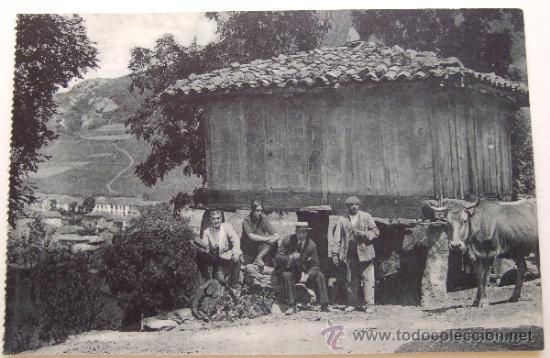 ASTURIAS. 36 PUERTO DE PAJARES.- UN HORREO - LOGOTIPO EDITORIAL (Postales - España - Asturias Antigua (hasta 1.939))