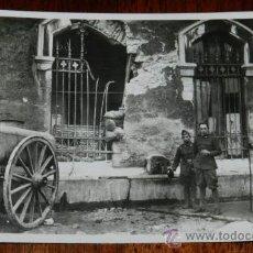 Postales: ANTIGUA FOTO POSTAL DE OVIEDO, COLECCION OVIEDO, CIUDAD MARTIR Nº 32, DETALLE EN EL CUARTEL DE PELAY. Lote 34329460