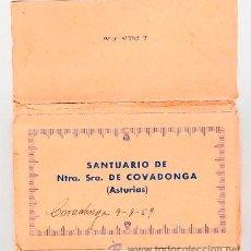 Postales: SANTUARIO DE NTRA SRA DE COVADONGA ASTURIAS. ROISIN FOTO DESPLEGABLE DE 10 POSTALES . Lote 34562025
