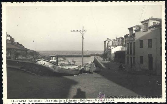 TAPIA (ASTURIAS).- UNA VISTA DE LA DÁRSENA (Postales - España - Asturias Moderna (desde 1.940))