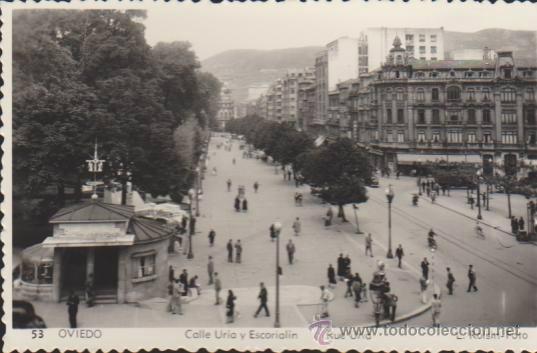 OVIEDO.- CALLE URÍA Y ESCORIALÍN. L. ROISIN. (Postales - España - Asturias Moderna (desde 1.940))
