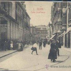 Postales: GIJÓN (ASTURIAS).- CALLE JOVELLANOS. Lote 35425144