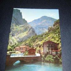 Postales: Nº 281 RUTA DESFILADERO DEL CARES EMBALSE Y PARADOR DE PONCEBOS (CAMARMEÑA) CIRCULADA. Lote 35456489