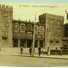 Postales: POSTAL GIJÓN PALACIO DE REVILLAGIGEDO ED GRAFOS SIN CIRCULAR. Lote 35617277