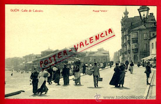 POSTAL GIJON , CALLE DE CABRALES , VINCK , P75279 (Postales - España - Asturias Antigua (hasta 1.939))