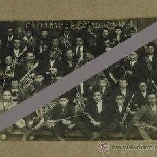 Postales: TARJETA POSTAL FOTOGRÁFICA DE LA BANDA DE MÚSICA DE POLA DE SIERO (ASTURIAS). 1923.. Lote 35721484