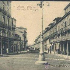 Postales: AVILÉS (ASTURIAS).- CALLE DEL MARQUÉS DE TEVERGA. Lote 35807655