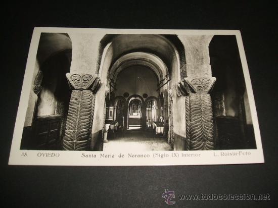 OVIEDO ASTURIAS SANTA MARIA DEL NARANCO INTERIOR (Postales - España - Asturias Antigua (hasta 1.939))