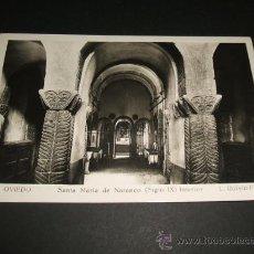 Postales: OVIEDO ASTURIAS SANTA MARIA DEL NARANCO INTERIOR. Lote 36299579