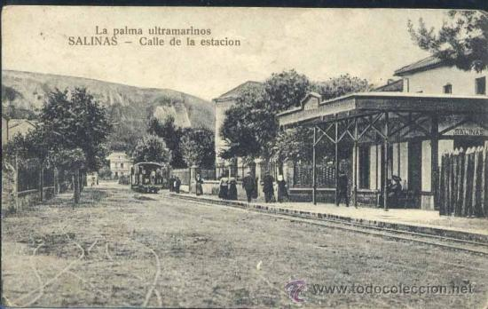 SALINAS (ASTURIAS).- CALLE DE LA ESTACIÓN (Postales - España - Asturias Antigua (hasta 1.939))