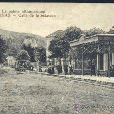 Postales: SALINAS (ASTURIAS).- CALLE DE LA ESTACIÓN. Lote 36363029