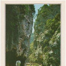 Postales: PICOS DE EUROPA. DESFILADERO DEL RÍO CARES. PUENTE DE LOS REBECOS.. Lote 36406189