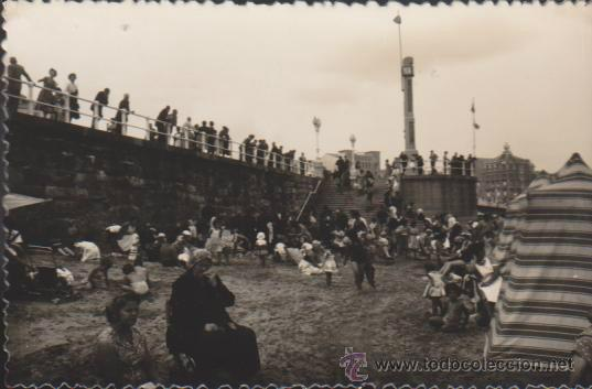 GIJÓN.- PLAYA SAN LORENZO. L. ROISIN. (Postales - España - Asturias Moderna (desde 1.940))