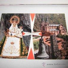 Postales: 47-COVADONGA (ASTURIAS)LA SANTINA Y TEMPLO GARCIA GARRABELLA. Lote 37607845